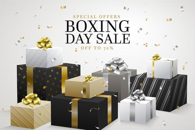 Realistischer boxing day sale Kostenlosen Vektoren