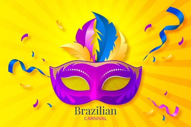 Realistischer brasilianischer karneval der maske Kostenlosen Vektoren