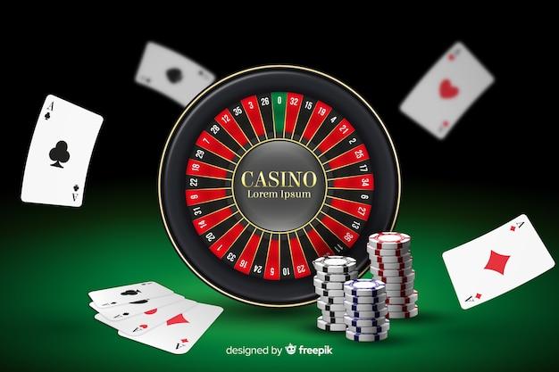 Realistischer casino-hintergrund Kostenlosen Vektoren