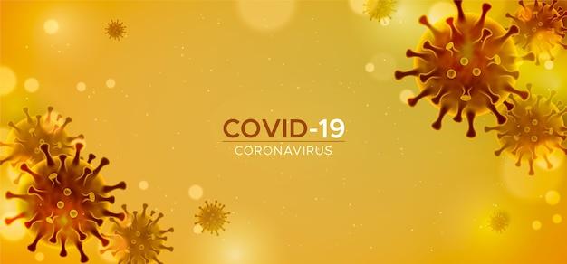 Realistischer coronavirus-hintergrund Kostenlosen Vektoren