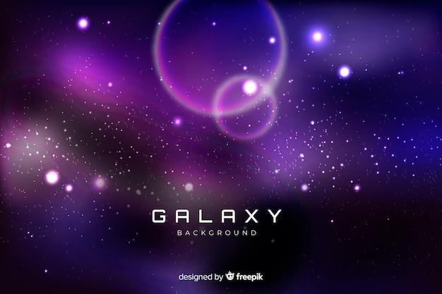 Realistischer galaxiehintergrund Kostenlosen Vektoren