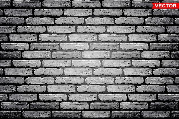 Realistischer grauer backsteinmauertexturhintergrund Premium Vektoren