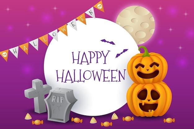 Realistischer halloween-hintergrund Kostenlosen Vektoren