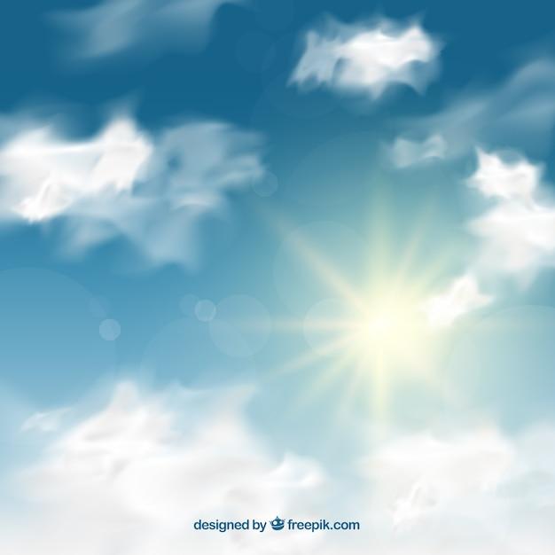 Realistischer Himmelhintergrund mit Wolken | Download der ...