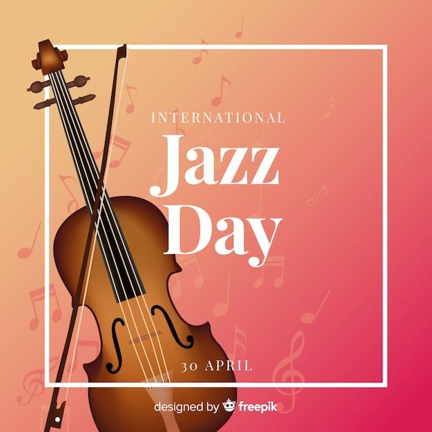 Realistischer internationaler jazztaghintergrund Kostenlosen Vektoren
