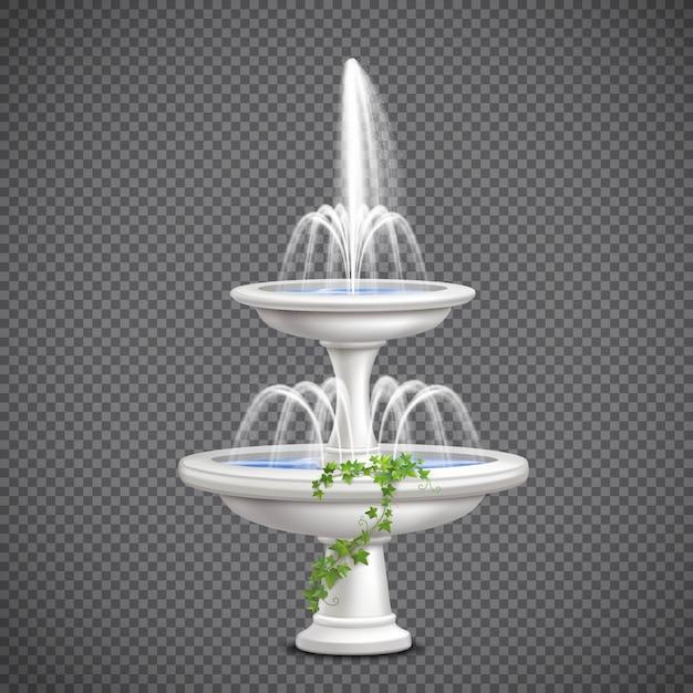 Realistischer kaskadenbrunnen Kostenlosen Vektoren