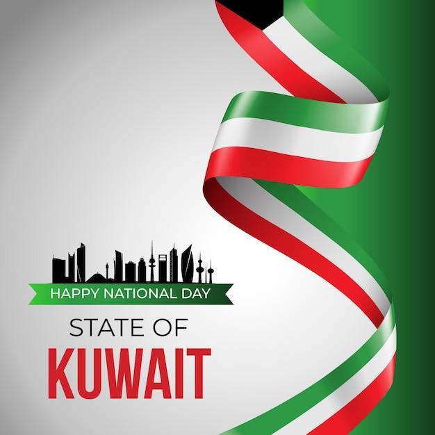 Realistischer kuwait-nationalfeiertag Kostenlosen Vektoren