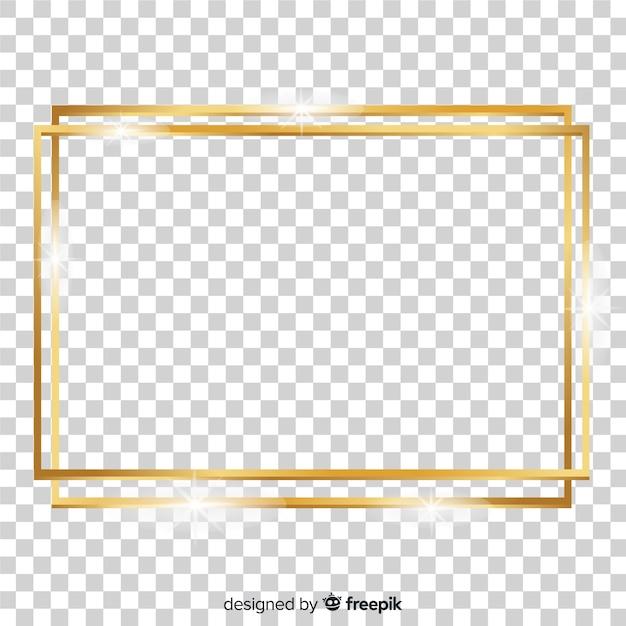 Realistischer quadratischer goldener rahmen Kostenlosen Vektoren