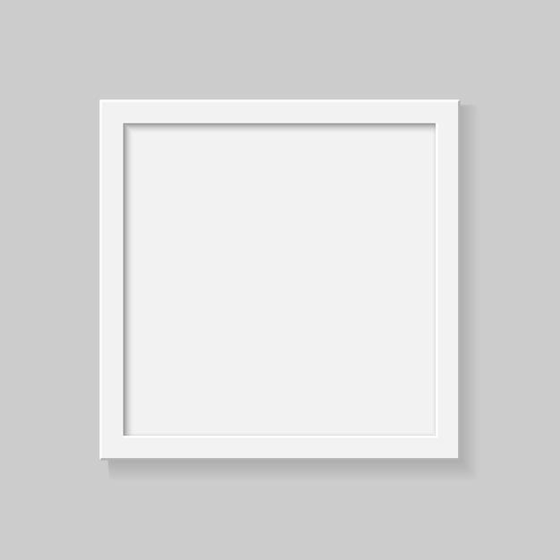Realistischer quadratischer leerer bilderrahmen auf transparentem hintergrund. Premium Vektoren
