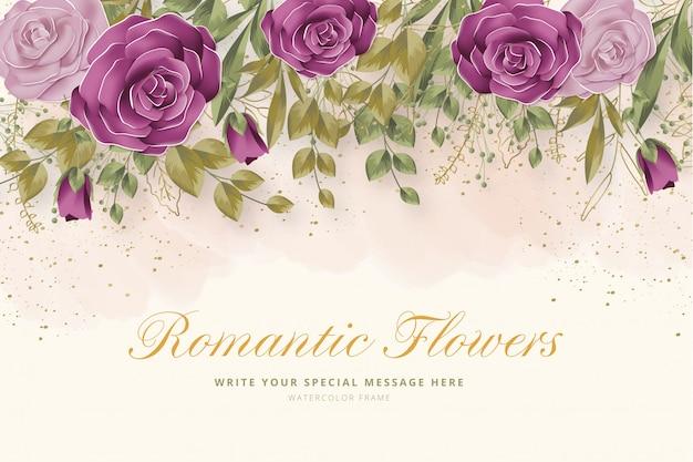 Realistischer romantischer blumenhintergrund Kostenlosen Vektoren