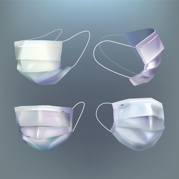 Realistischer stil der medizinischen maske Kostenlosen Vektoren