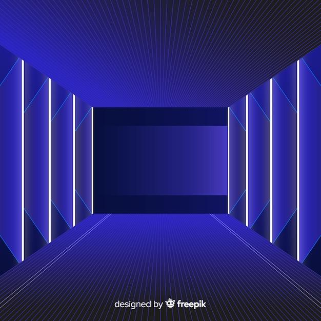 Realistischer technologielicht-tunnelhintergrund Kostenlosen Vektoren