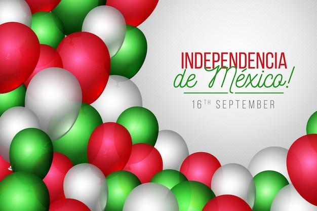 Realistischer unabhängiger ballonhintergrund des mexiko Kostenlosen Vektoren