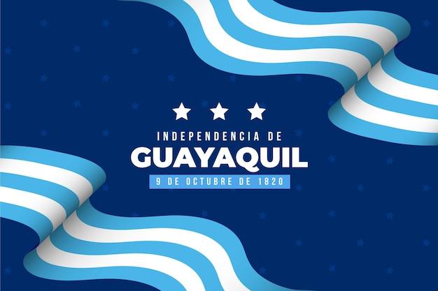 Realistischer unabhängiger hintergrund von guayaquil Premium Vektoren