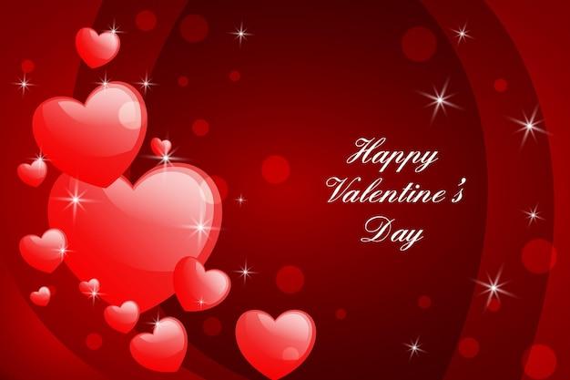 Realistischer valentinstaghintergrund Kostenlosen Vektoren