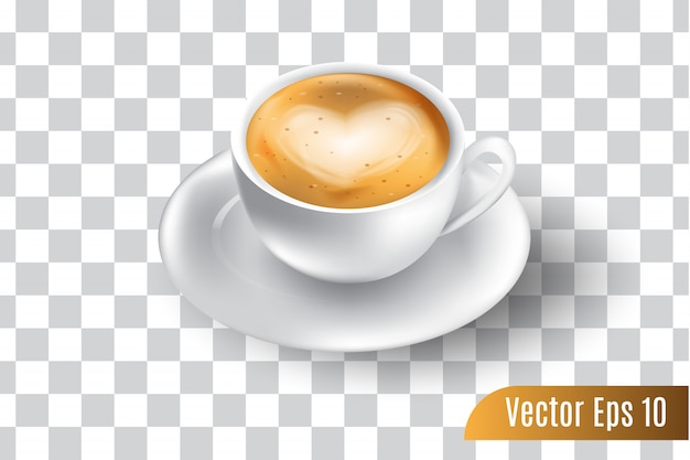 Realistischer vektor 3d des espressokaffees lokalisierte transparentes Premium Vektoren