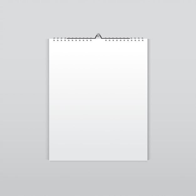Realistischer wandkalender Premium Vektoren