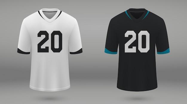 Realistisches american-football-trikot Premium Vektoren