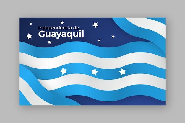 Realistisches banner der unabhängigkeit von guayaquil Kostenlosen Vektoren