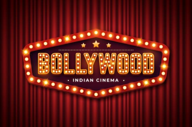 Realistisches bollywood-kinozeichen Kostenlosen Vektoren