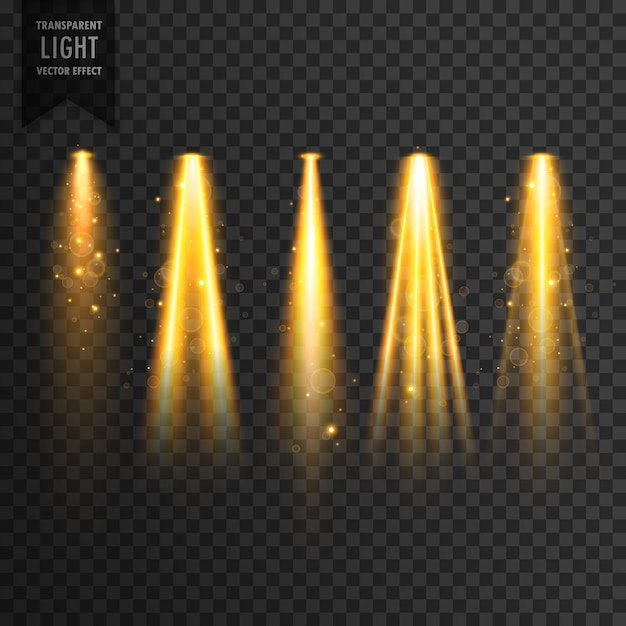 realistisches Bühnenlicht oder Konzert Scheinwerfer Vektor transparent Effekt Kostenlose Vektoren