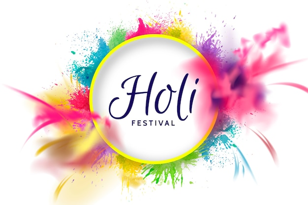 Realistisches buntes explosion holi festival Premium Vektoren