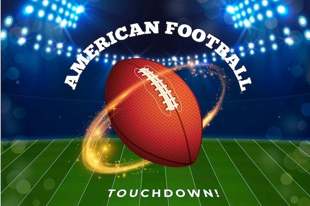 Realistisches design american football Kostenlosen Vektoren