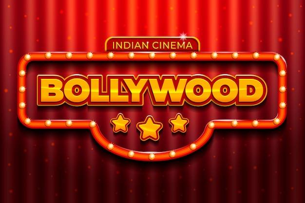 Realistisches design des bollywood-kinos Kostenlosen Vektoren