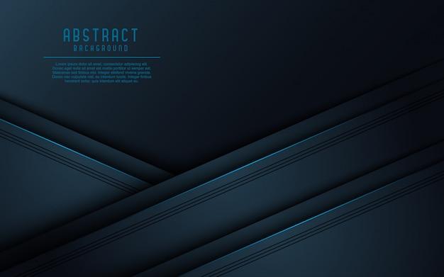 Realistisches dunkles papier überlagert hintergrund mit schwarzer linie. Premium Vektoren
