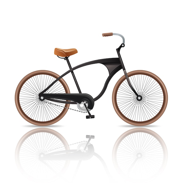 Realistisches fahrrad getrennt Kostenlosen Vektoren