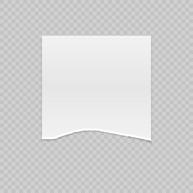 Realistisches heftiges papier mit zerrissenen rändern Premium Vektoren
