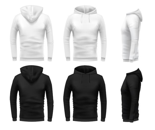 Realistisches hoodie-modell Kostenlosen Vektoren