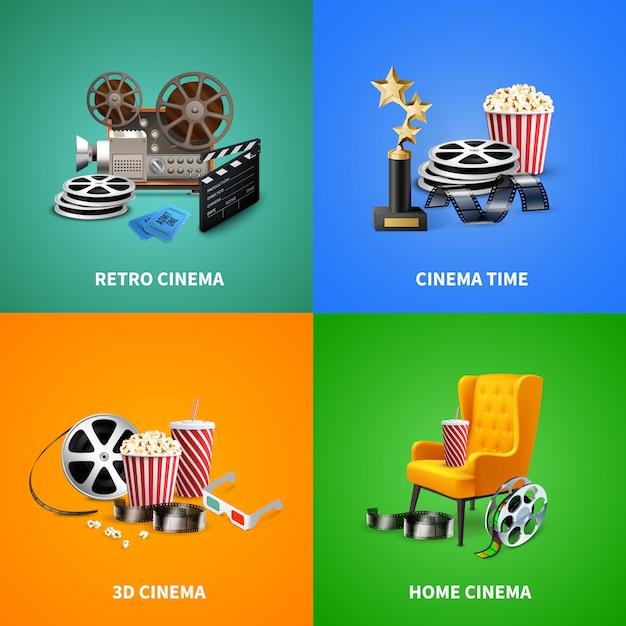 Realistisches kino Kostenlosen Vektoren