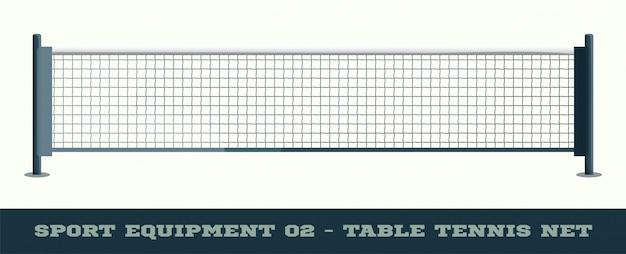 Realistisches netz für tischtennis-tischtennisvektor Premium Vektoren