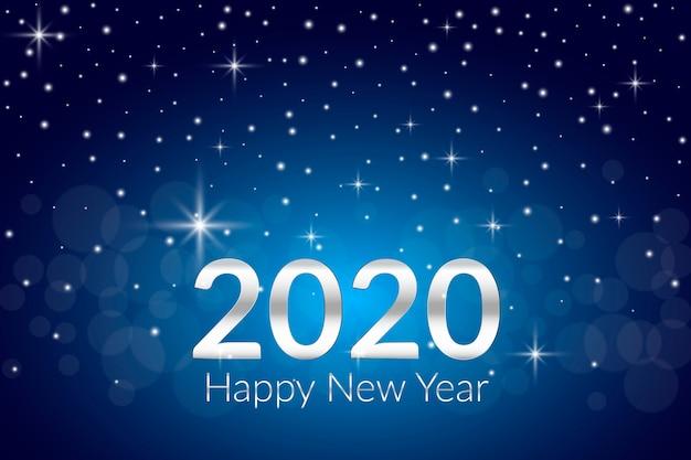 Realistisches neues jahr 2020 Kostenlosen Vektoren