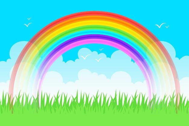 Realistisches regenbogenkonzept Kostenlosen Vektoren