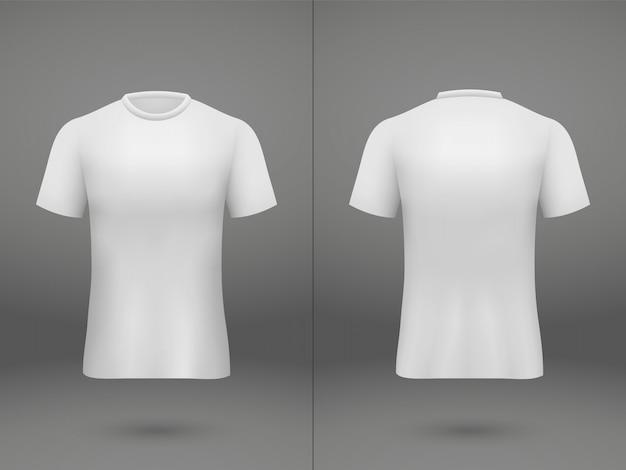 Realistisches schablonenfußball-jerseyt-shirt auf shop Premium Vektoren