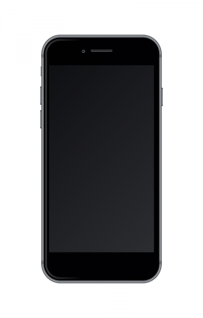 Realistisches smartphone lokalisiert auf weißem hintergrund. Premium Vektoren