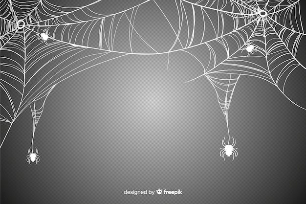 Realistisches spinnennetz für halloween-ereignis Kostenlosen Vektoren