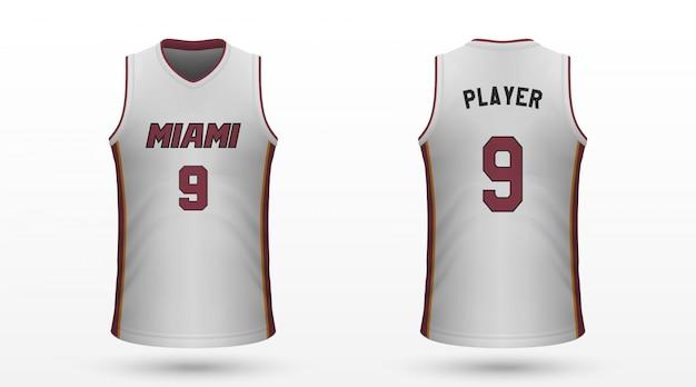 Realistisches sporthemd Premium Vektoren