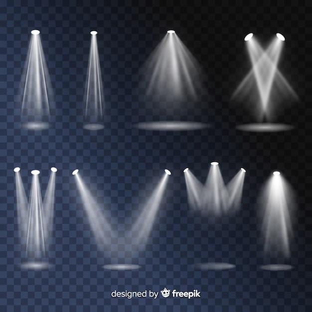 Realistisches szenenbeleuchtungspaket Kostenlosen Vektoren