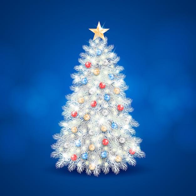 Realistisches weihnachtsbaumkonzept Kostenlosen Vektoren
