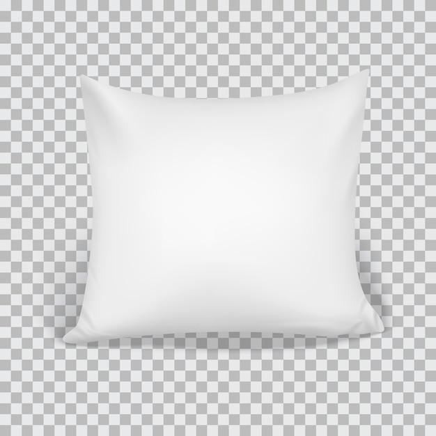 Realistisches weißes kissen 3d Premium Vektoren