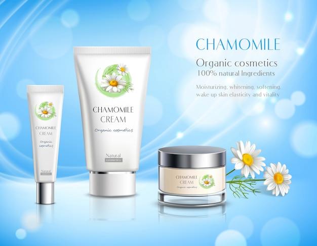 Reality-werbeplakat für kosmetikprodukte Kostenlosen Vektoren