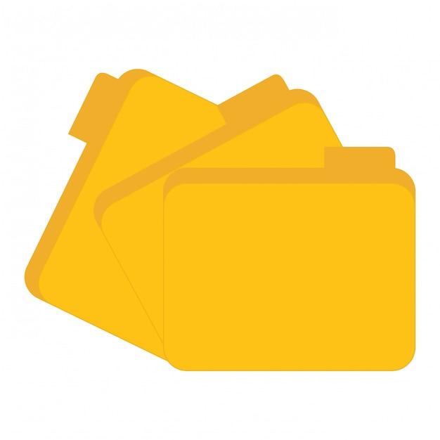 Rechenzentrum für gelbe dateien Premium Vektoren