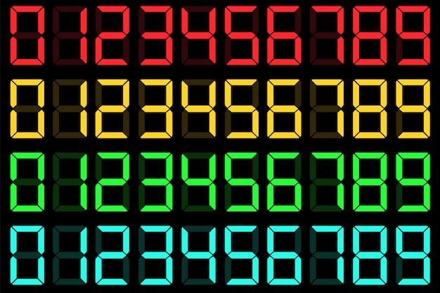 Rechner flüssigkristall digital lcd-nummern. Premium Vektoren