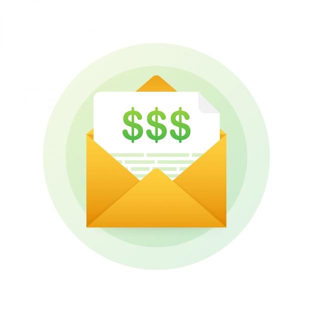 Rechnungssymbol in flache linienart. geschäfts- oder finanzgeschäft zeichen. rechnungen bezahlen und abrechnen. Premium Vektoren
