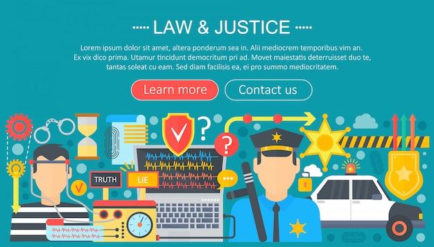 Recht und gerechtigkeit infografiken vorlage design Premium Vektoren