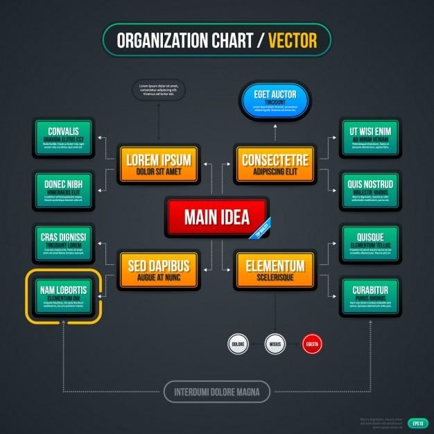 Rechteckige infografik scheme-vorlage Kostenlosen Vektoren