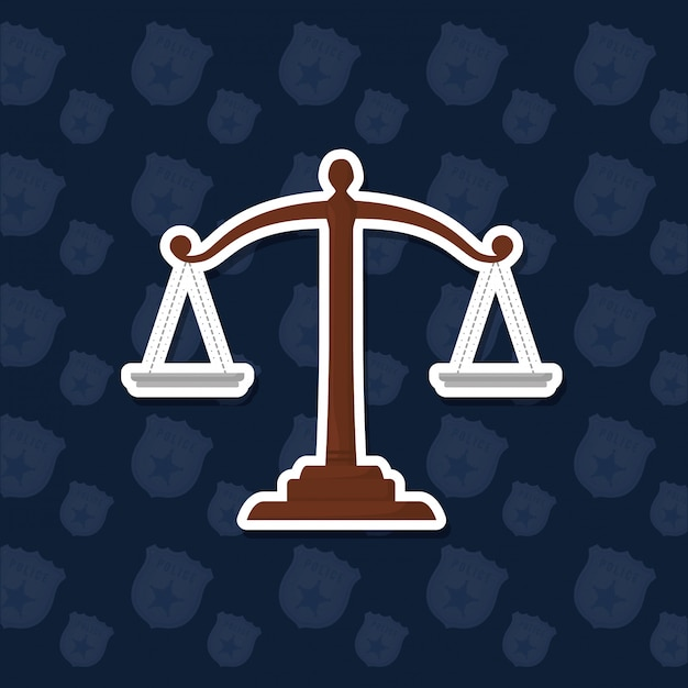 Rechtsskala-symbol Premium Vektoren